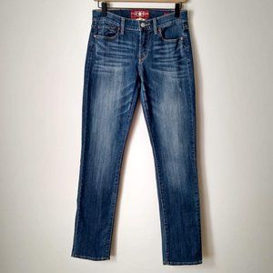 Lucky Brand Sofia Straight Dark Wash Faded Jeans